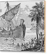 Landing Of Leif Ericsson Wood Print