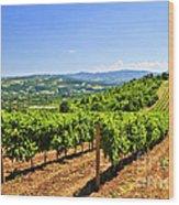 Landscape With Vineyard Wood Print