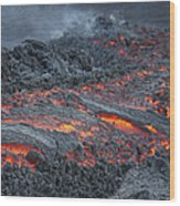 Lava Flow On The Flank Of Pacaya Wood Print