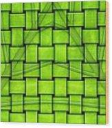 Leaf Reflection Wood Print