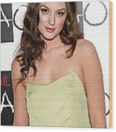 Leighton Meester In Attendance Wood Print by Everett