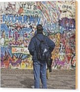 Lennon Wall, Prague Wood Print