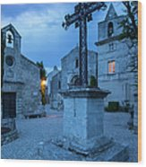 Les Baux Iron Cross Wood Print