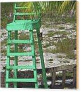 Lifeguard Chair Wood Print