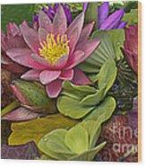 Lilies No. 33 Wood Print by Anne Klar