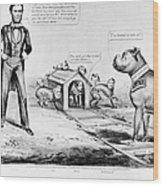 Lincoln: Cartoon, 1864 Wood Print