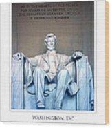 Lincoln Memorial Wood Print by Jim McDonald Photography