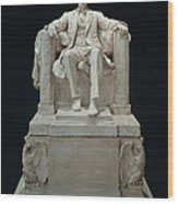 Lincoln Memorial: Statue Wood Print