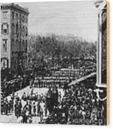 Lincolns Funeral Procession, 1865 Wood Print by Photo Researchers