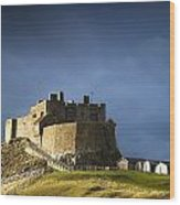 Lindisfarne Castle On A Volcanic Mound Wood Print
