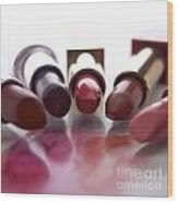 Lipsticks Wood Print