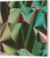 Liquid Crystalline Dna Wood Print