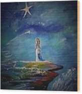 Little Wishes By The Sea Wood Print