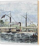 Livingstone: Steam Launch Wood Print
