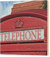 London Calling Wood Print