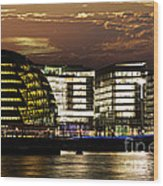 London City Hall At Night Wood Print