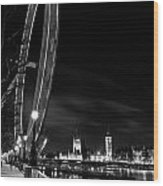 London Eye And London View Wood Print