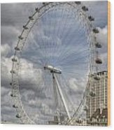 London Skyline Edf Eye  Wood Print