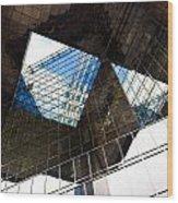 London Southbank Abstract Wood Print