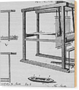 Loom: Fly Shuttle, 1733 Wood Print