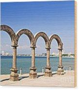 Los Arcos Amphitheater In Puerto Vallarta Wood Print