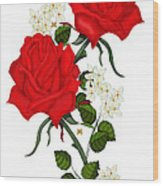 Love Is Like A Red Red Rose Wood Print
