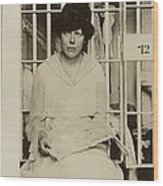 Lucy Burns 1879-1966, In A Jail Wood Print by Everett