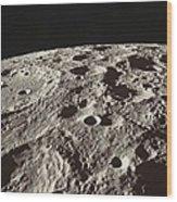 Lunar Surface Wood Print