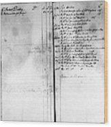 Madison: Account Book Wood Print
