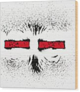 Magnetic Repulsion Wood Print