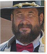 Major General L. L. Lomax Portrayed By Dan L. Carr 150th Anniversary Of The American Civil War Wood Print