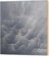 Mammatiform Clouds Wood Print