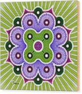 Mandala Of Abundance Wood Print
