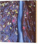 Maple Leaves Wood Print