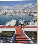 Marina In Puerto Banus Wood Print
