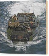 Marines Navigate An Amphibious Assault Wood Print