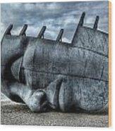Maritime Memorial Cardiff Bay Wood Print