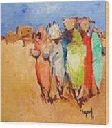 Market Day Wood Print by Negoud Dahab
