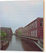 Market Mills Lowell Wood Print by Jan W Faul