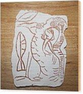 Market Seller 3 Wood Print