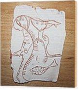 Market Seller 4 Wood Print