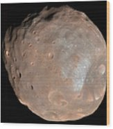 Mars Moon Phobos Wood Print