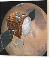 Mars Telecommunications Orbiter Wood Print