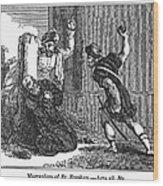 Martyrdom Of St. Stephen Wood Print