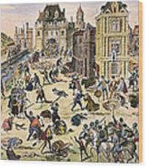Massacre Of Huguenots Wood Print by Granger
