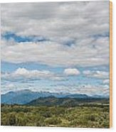 Massive Cloudy Sky Above The Wilderness Wood Print