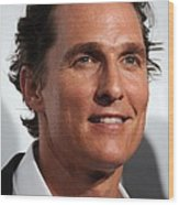 Matthew Mcconaughey At Arrivals Wood Print by Everett