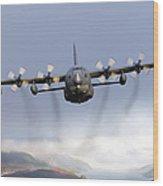 Mc-130p Combat Shadow Over Scotland Wood Print