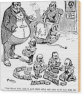 Mckinley Cartoon, 1900 Wood Print