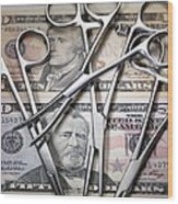 Medical Costs Wood Print